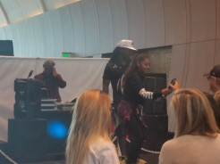 The man WilldaBeast working the crowd